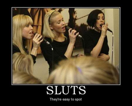 sluts-easy to spot