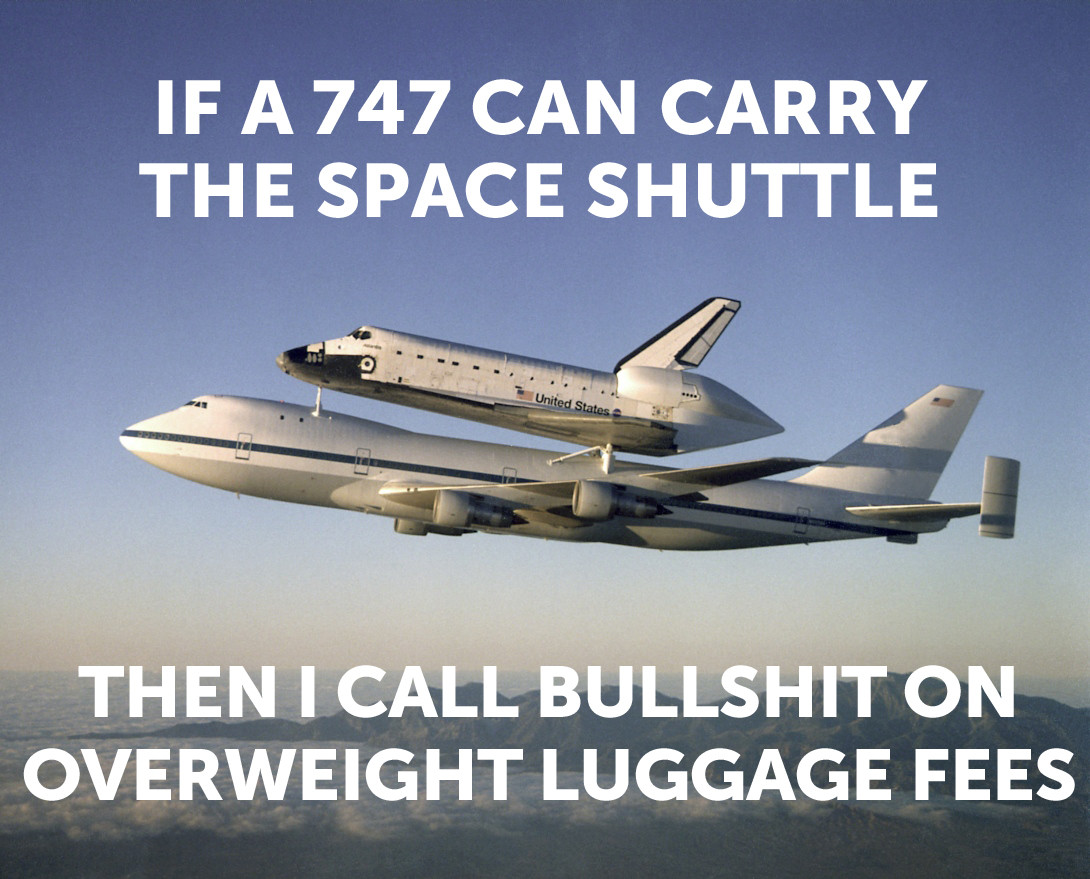 shuttle on 747