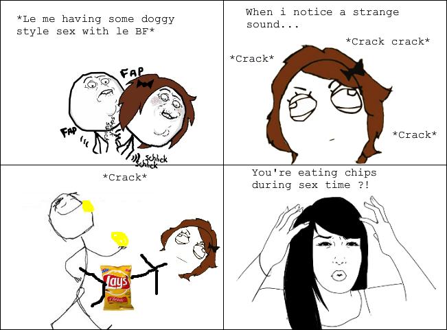 Men love chips